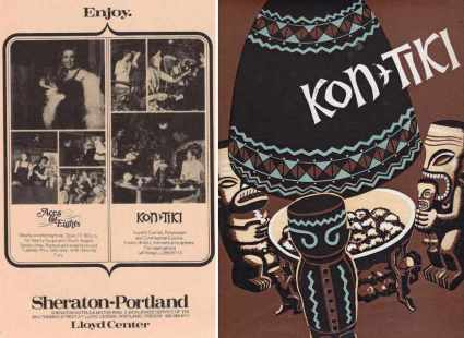 Vintage Kon Tiki ad and menu cover